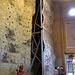 Verstellbare Wand in der Kletterhalle Haslital.