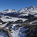 Blick zum Silser See im Aufstieg<br />... wenig Schnee auf dem Weg zum Gipfeli