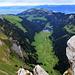 Vue depuis le Fähnligipfel : Sämtisersee et Hoher Kasten