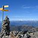Monte Tamaro, freie Sicht auf Monte Rosa und Mischabel