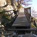 Ponte realizzato dagli Alpini dopo la frana del 2008