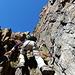 der Jegihorn-Klettersteig ist einer der wenigen in der Schweiz, wo es nicht so von Eisen wimmelt, so das man auch fast alles in reinem Felsen klettern kann.