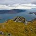 Blick nach Westen - hinten die inneren Hebriden.