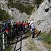 """Massenauflauf am Einstieg der """"Orizzonti Dolomitici"""""""
