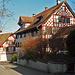 Schöne Rieghäuser im Dorf Ottoberg