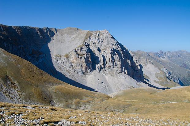 Auf dem Pass zwischen dem Monte Vettore und der Cima del Redentore
