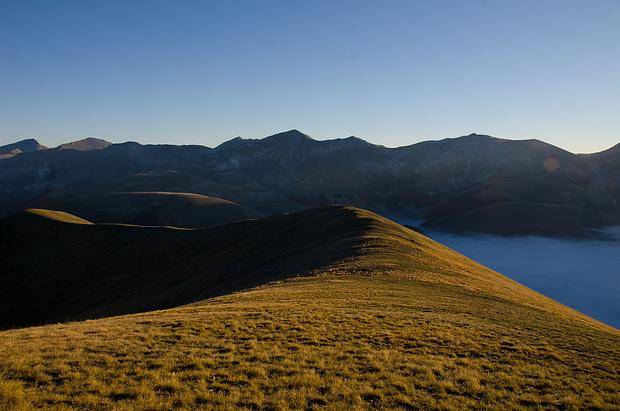 Blick nach Osten auf die Monti Sibillini