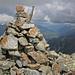 Gipfelsteinmann Piz Sursass (2910m) mit Gipfelbuch