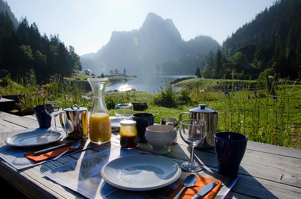 Erst ein Gipfel, dann das Frühstück - das ist die richtige Reihenfolge!