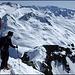 Gipfelüberschreitung für die NO-Abfahrt richtung Maighelshütte