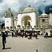 """Die Wallfahrtskirche von Copacabana der """"Virgen Morena""""<br />Autobesitzer aus ganz Bolivien und Peru lassen hier ihre Autos (mit Hochprozentigem) segnen."""
