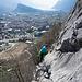 Schönes Klettern an griffigem Fels