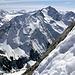 Ausblick während dem Abstieg vom Gipfel,