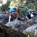In dem noch feucht-schmierigen Abstieg von der Bützi heißt es Obacht....