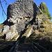 Die Reste der Ruine Löwenburg