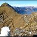 Auf dem Vorgipfel, Blick zum Gipfel. Ich folge weiterhin dem Grat.