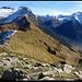 Cima di Biasagn, auf dem Gipfel. Links Pizzo del Ramulazz, gefolgt vom Piz di Strega, den ich auch noch besteigen will, wenn ich das noch erleben sollte... Rechts Piz da Termin.