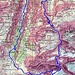 Routenverlauf<br /><br />Quelle: Swiss Map online