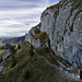Unterm Steineberg führt ein kleiner Weg am Fels entlang
