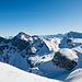 Uri Rotstock und Schlieren, dazwischen der Glärnisch und die Gipfel des Lidernengebiets