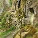 Sandsteinkeller bei der Ruine Langenstein.