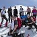 Foto di gruppo alla base della cima