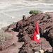 Wer wohl die Schweizer Fahne auf diesen Gipfel gesetzt hat? <br />(Ich war es nicht und ein paar Tage später war sie nicht mehr dort)