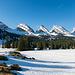 Wunderbarer Blick auf die Churfirsten kurz nach der Alp Sellamatt