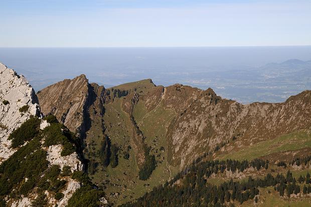 Close up Grappenhorn, Chüemettler und Schafberg (v.r.n.l.)