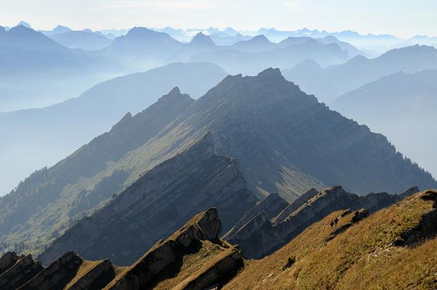 Abstieg über den Speer-Südwestgrat.