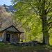 Hütte Perostabbio 1233 m, von aussen..