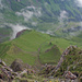 Plasteikopf Westflanke, im Tal unten Alp Lawena