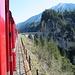 Foto aus der Rhätischen Bahn zum ersten Viadukt