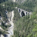 Wiesen Viadukt und unten ein Zufluss zur Landwasser