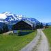Die Hochegg Alpe vor der Winterstaude