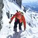 wieder Abstieg über das steile Couloir