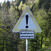 Warnschild vor der Abfahrt zur Partnach Klamm