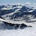 Blick nach Osten  - links unterhalb der Grawand, das Schnalstaler Gletscherskigebiet