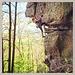 Eine der schönsten Route in neuen Klettergarten in Gueberschwir - Cyanure 6b