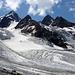 Auf dem Langtauferer Ferner unterhalb des Vernagl-Eisbruchs