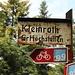 Vieux panneau en allant vers Groshöchstetten