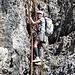 Cinzia sulla scala