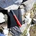 Schön: ein kleines Gipfelbuch... und ein bisserl versteckt im Steinhaufen
