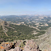 About 180 degree panorama from the top of Raymond Peak (S-N)