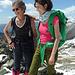 Ecco le due donne felici in in cima alla nostra prima vetta. M. Azzaredo m. 2112