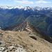 Dalla cima del Piz de Molinera, La cresta salita.