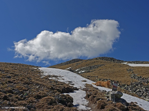 Nicht mehr weit bis auf den Gipfel