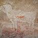 Elefant, in ihn wurde später eine Antilope hinein gemalt. Die Hauptattraktion der Höhle