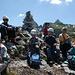 geschafft - unsere erste gemeinsame Klettertour. Auf dem Gipfel des Schmal Stökli.