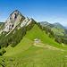 Panorama mit der Rigi Hochflue beim Abstieg vom Gottertli